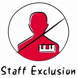 Staff exclusion